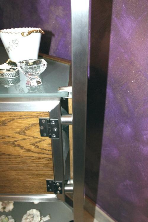 Mobile porta televisore in acciaio inox e vetro su misura - Porta televisore in vetro ...
