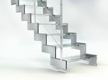Scale in acciaio e vetro parapetti e cancelli napoli e campania - Parapetti in vetro per scale ...